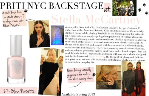 priti nyc blush noisette backstage stella mccartney