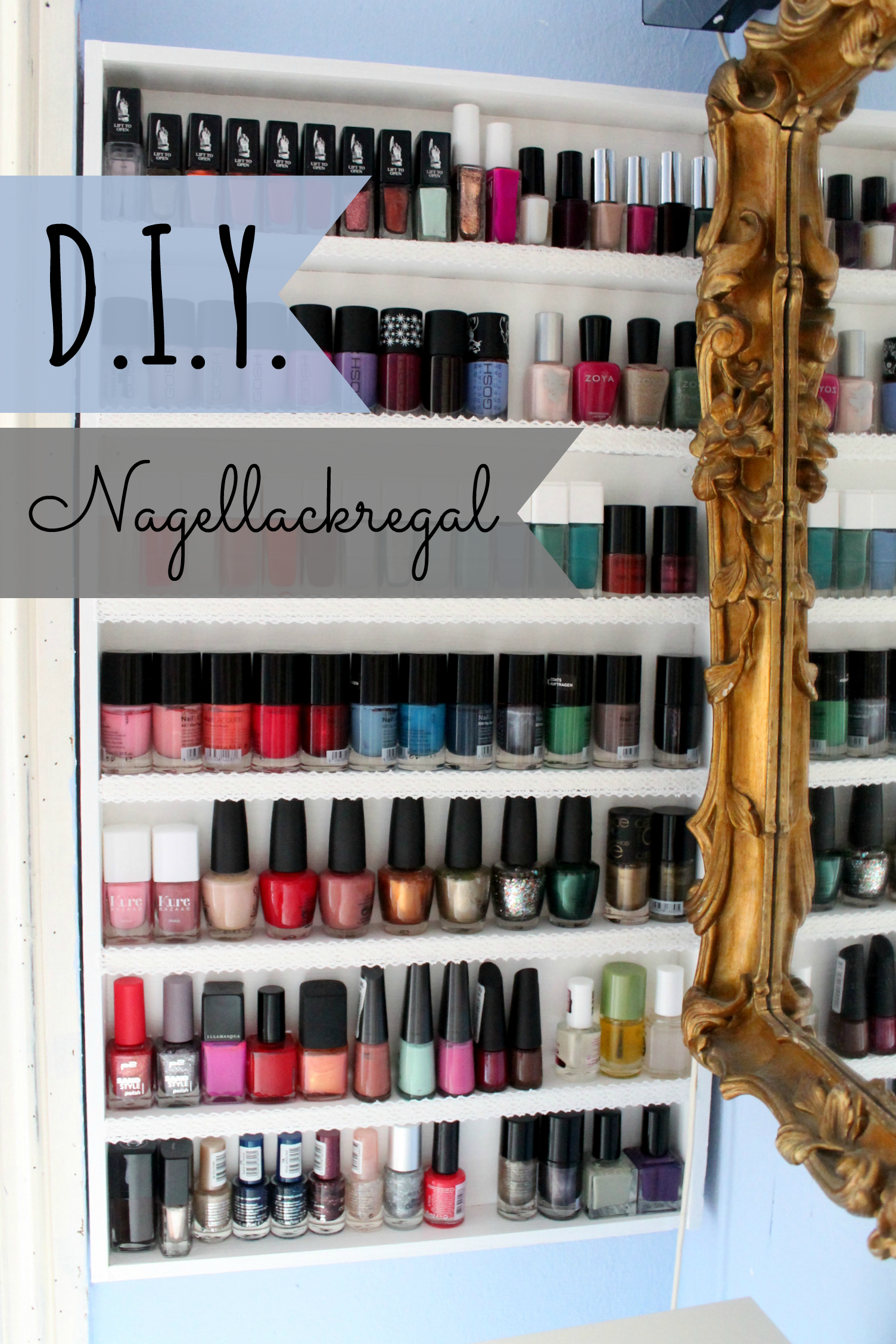 diy nagellackregal once upon a cream vegan beauty blog. Black Bedroom Furniture Sets. Home Design Ideas